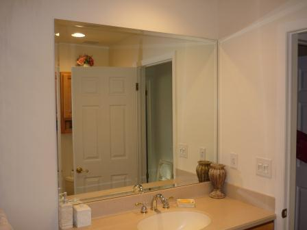 Bathroom Mirror With Bevel Edge